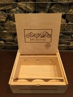 McIntyre Branded Wooden Box - 3 Bottles